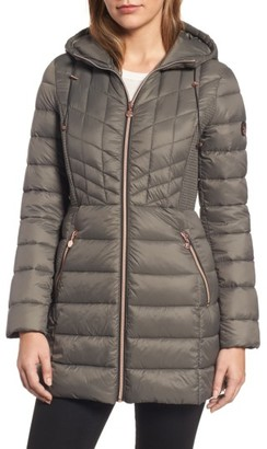 Women's Bernardo Hooded Packable Down & Primaloft Coat $228 thestylecure.com