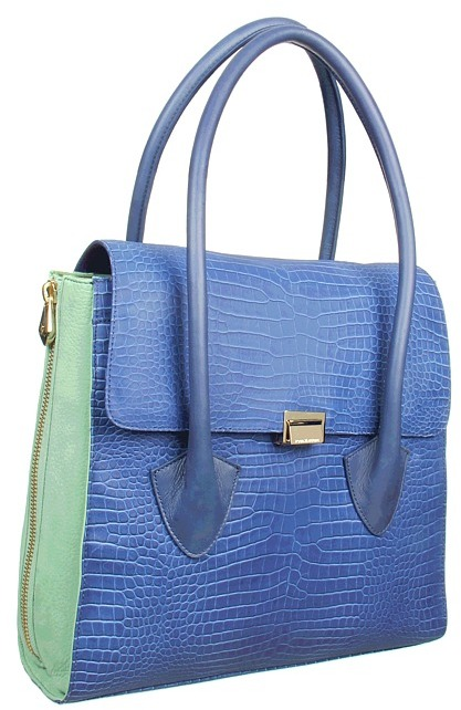 Pour La Victoire Morandi Large Satchel (Navy Washed) - Bags and Luggage