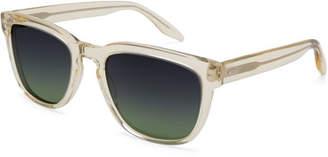 Barton Perreira Men's Coltrane Square Acetate Sunglasses, Champagne