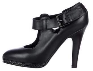Bottega Veneta Leather Ankle Strap Pumps