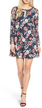 Women's Cupcakes And Cashmere Del Rey Floral Print Shift Dress $115 thestylecure.com