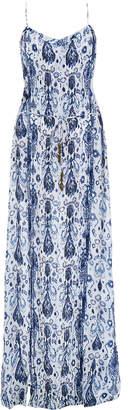 Vix Aisha Dany Blue Printed Maxi Dress