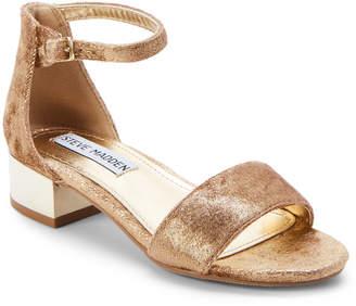 Steve Madden Kids Girls) Gold Irene Ankle-Strap Sandals