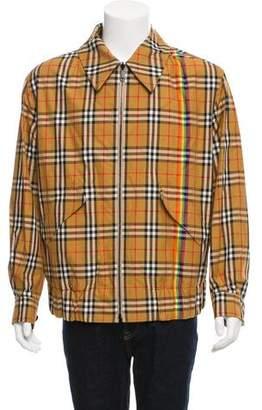 Burberry 2018 Vintage Rainbow Check Harrington Reversible Jacket w/ Tags