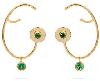 A.N.A Khouri - Lily 18kt Gold & Emerald Earrings - Womens - Green