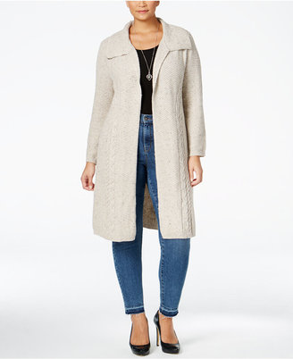 Style & Co. Plus Size Cable-Knit Duster Cardigan, Only at Macy's $89.50 thestylecure.com