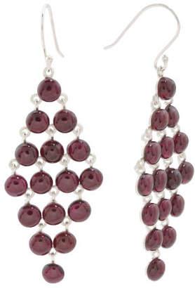 Made In India Sterling Silver Garnet Kite Earrings