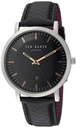 Ted Baker Men's 'David' Quartz Stainless Steel and Leather Casual Watch