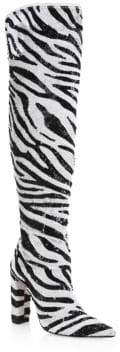 Alexandre Birman Anna Knee-High Sequin Boots
