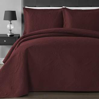 Extra Lightweight Staniey Collection Floral 3-piece Coverlet Set
