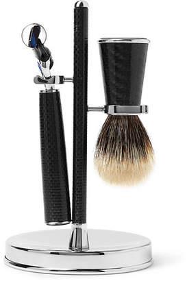 Lorenzi Milano - Three-Piece Carbon-Fibre Shaving Set - Men - Black