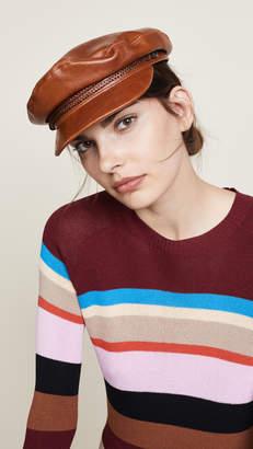 Brixton Fiddler Faux Leather Cap Hat