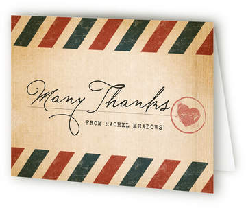 Vintage Pack Your Bags Farewell Party Thank You Cards