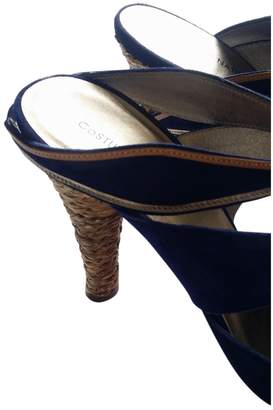 CNC Costume National Blue Suede Sandals