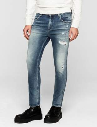 Calvin Klein sculpted distressed slim ankle jeans