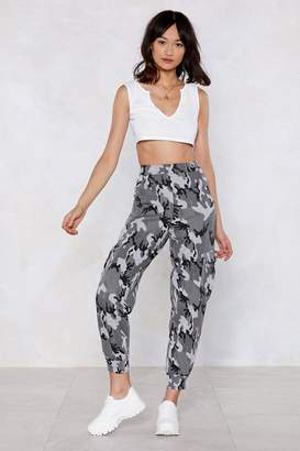 Nasty Gal You and What Army Camo Joggers