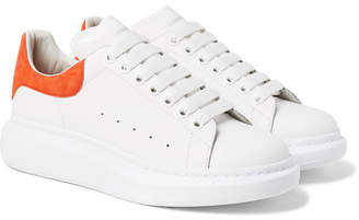 Alexander McQueen Exaggerated-Sole Leather Sneakers - Men - White