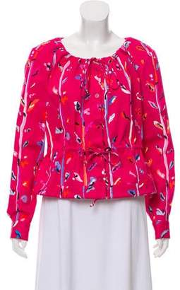 Altuzarra Printed Button-Up Top w/ Tags