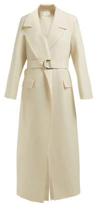 The Row Newen Double Breasted Wool Twill Coat - Womens - Ivory