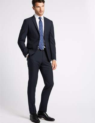 Marks and Spencer Big & Tall Navy Modern Slim Fit Wool Jacket