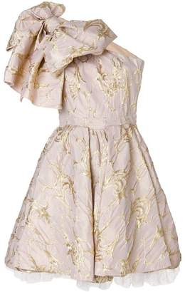 MSGM large bow cocktail dress