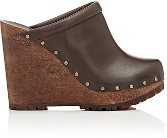 See by Chloe SEE BY CHLOE WOMEN'S LEATHER PLATFORM-WEDGE CLOGS $350 thestylecure.com