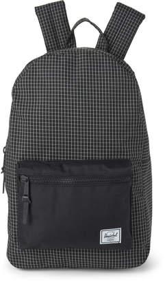 Herschel Black Grid Settlement Backpack