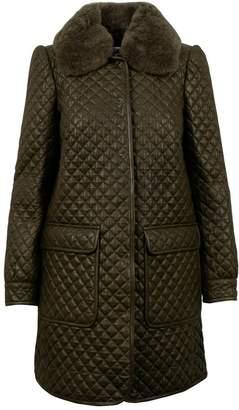 RED Valentino Green Leather Jackets