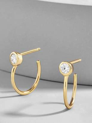 BaubleBar Mezzo 18K Gold Plated Huggie Hoop Earrings