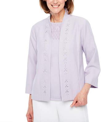 Alfred Dunner Roman Holiday Shirt Jacket-Petite