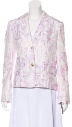 Jenni Kayne Watercolor Print Button-Up Blazer