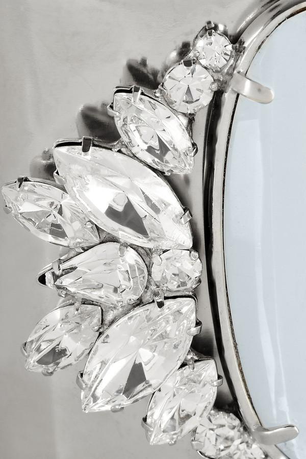 Noir Silver-plated crystal cuff