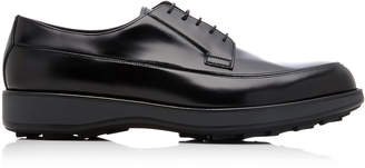 Prada Spazzolato Rois Leather Derby Shoes