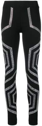 Philipp Plein crystal embellished leggings