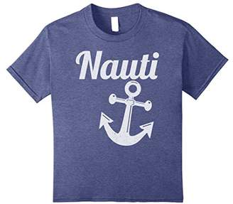 Nauti Anchor Shirt Funny Vintage Naughty Sailing Tee