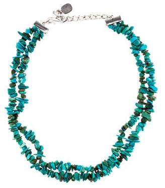 Ralph Lauren Dyed Magnesite & Dyed Howlite Double Bead Strand Necklace