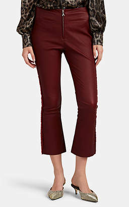 Area Women's Drew Leather Crop Flare Pants - Red