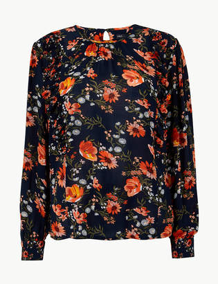 Marks and Spencer Floral Print Blouson Sleeve Blouse