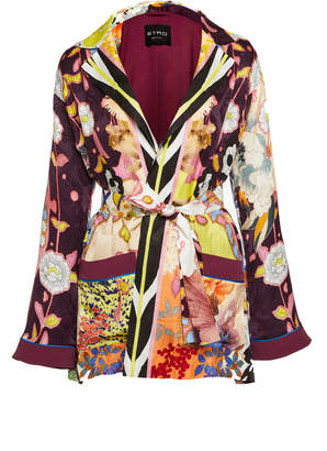 Etro Printed Satin Wrap Jacket