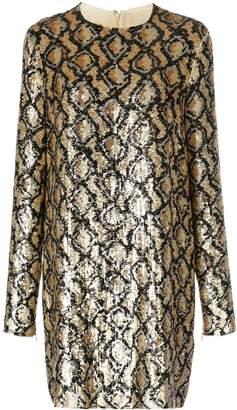Michael Kors snakeskin pattern sequinned dress