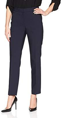 Lark & Ro Women's Slim Leg Dress Pant: Curvy Fit