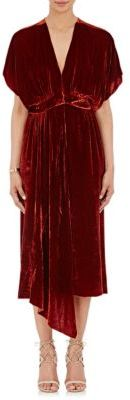 Masscob Women's Velvet Grecian Dress-RED