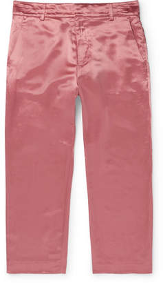 Sies Marjan Alex Cropped Washed-Satin Trousers