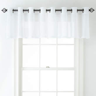 JCPenney JCP HOME HomeTM Bayview Grommet-Top Sheer Tailored Valance