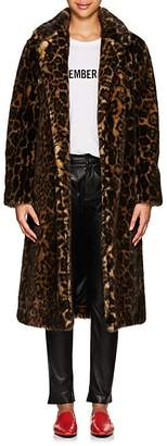 Nili Lotan Women's Marvin Leopard-Print Faux-Fur Long Coat