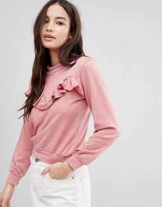 Glamorous Frill Sweatshirt