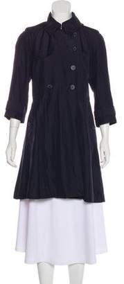 Club Monaco Silk Knee-Length Coat