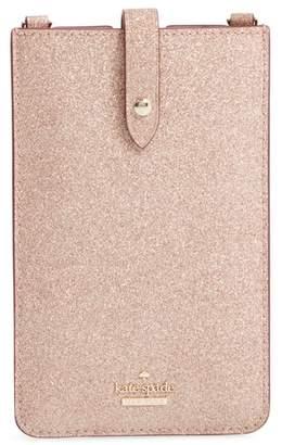 Kate Spade glitter leather iPhone crossbody case