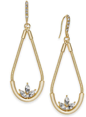 INC International Concepts I.N.C. Gold-Tone Crystal Elongated Drop Earrings, Created for Macy's