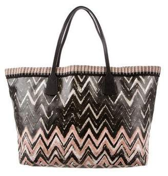 Missoni Coated Canvas Chevron Tote